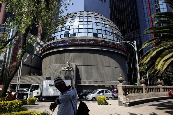Edificio de la Bolsa Mexicana de Valores en la Ciudad de México.