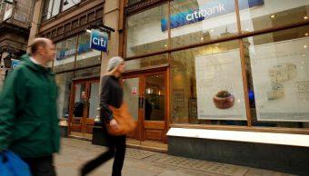Vista de una sucursal de Citibank en el centro de Londres (Getty Images)