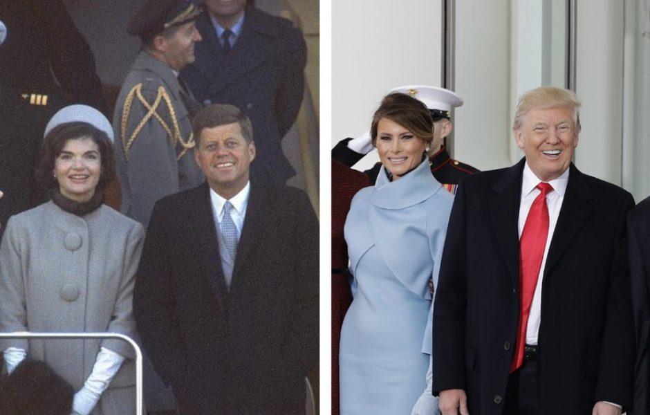 John y Jackie Kennedy y Donald y Melania Trump (Getty Images)