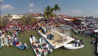 Embalse de toros en Tlacotalpan, Veracruz (Twitter @TlacotalpanVer)