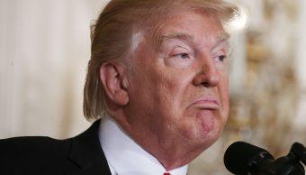 El presidente de los Estados Unidos, Donald Trump, durante una conferencia de prensa en la Sala Este de la Casa Blanca (Getty Images/archivo)