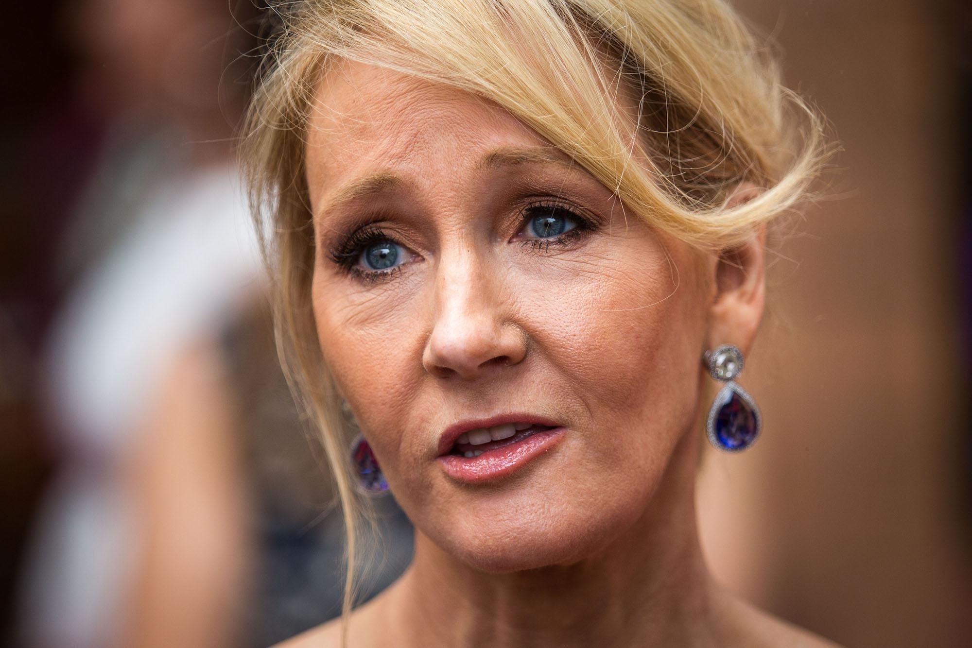 J.K. Rowling, autora de la saga de libros de Harry Potter