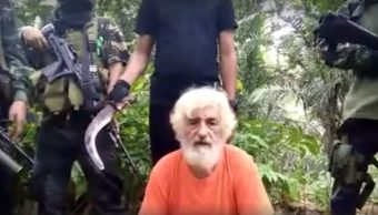 Juergen Kantner, rehén alemán en poder de yihdistas filipinos de Abu Sayyaf. (Manila Bulletin, archivo)