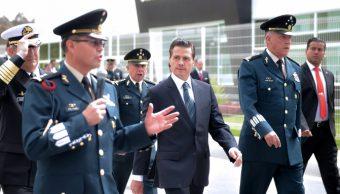Peña Nieto rindió un homenaje a los 139 soldados que han caído en el cumplimiento de su deber en la actual administración (@PresidenciaMX)