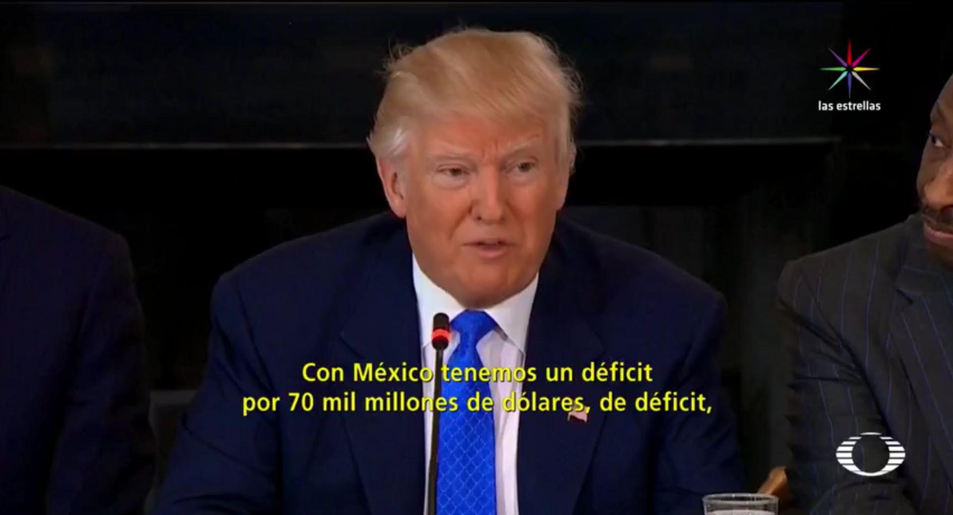Trump habla de operación militar en la frontera, sus funcionarios lo corrigen