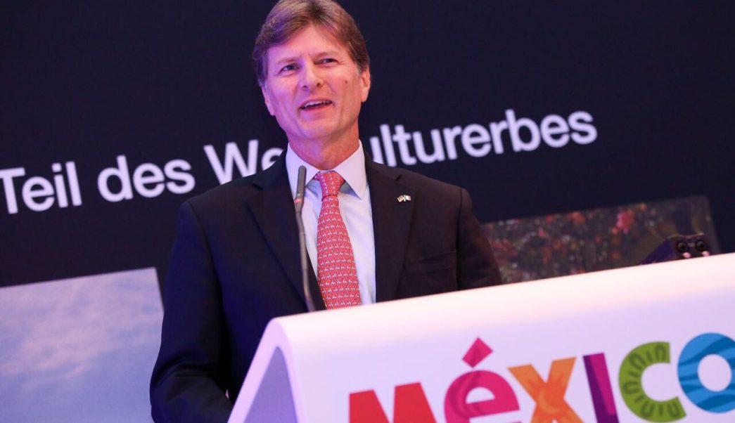 El secretario de Turismo, Enrique de la Madrid Cordero, de gira por Alemania. (Twitter, @edelamadrid)
