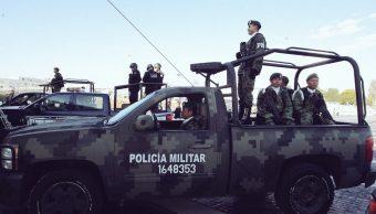 Operativos de la Policía militar en Puebla. (Twitter @TonyGali)
