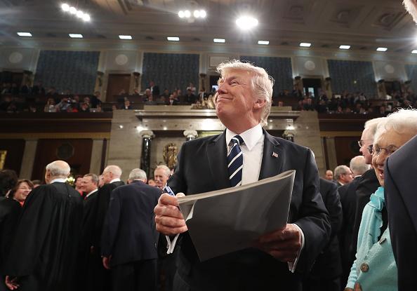 El presidente de Estados Unidos, Donald Trump. La industria alemana se mantiene atenta a las reformas fiscales que salgan de la Casa Blanca. (Getty Images)
