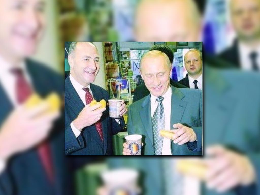 Trump publicó una imagen de Chuck Schumer y Vladimir Putin. (@realDonaldTrump)
