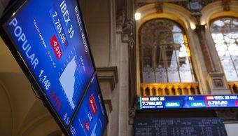 Tablero de la Bolsa de Madrid. (Getty Images)