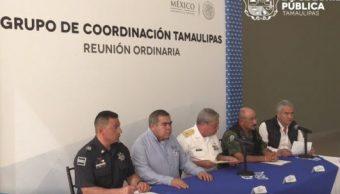 El Grupo de Coordinación Tamaulipas dio detalles sobre los hechos de violencia en la entidad (SSP Tamaulipas)