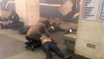 Decenas de heridos dejó la explosión en el metro de San Petersburgo. (AP)