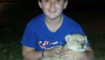 Kristian Prinsloo, menor atacado por un león. (Facebook: Kristian Prinsloo)