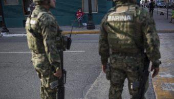 El gobernador de Tamaulipas reconoció el trabajo de las Fuerzas Armadas en la entidad. (AP)
