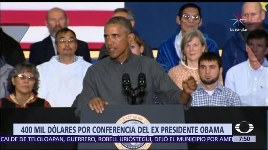 Obama recibirá 400 mil dólares por dictar conferencia