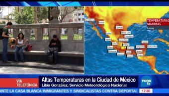 Libia González, Altas temperaturas, Ciudad de México, Servicio Meteorológico Nacional, calor, ola