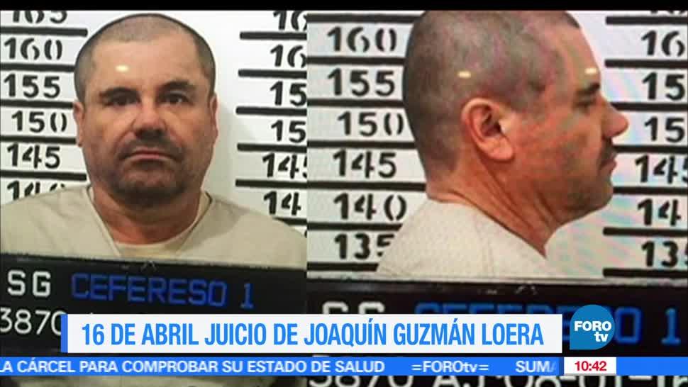 Joaquín, El Chapo Guzmán, Autoridades, juicio