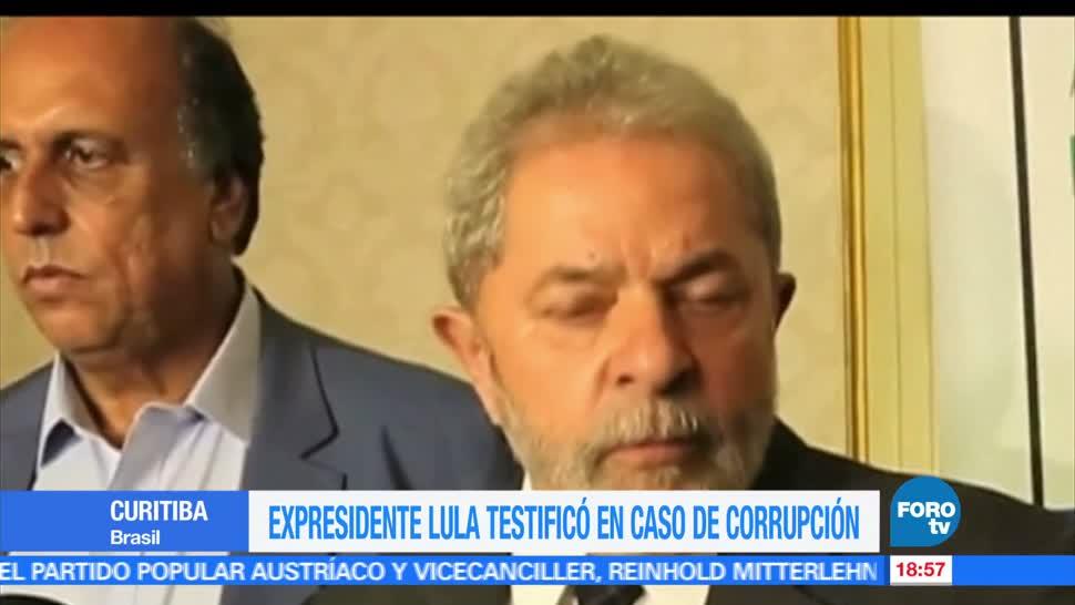 Expresidente, Brasil, Luiz Inácio Lula da Silva, testificó, caso, corrupción Petrobras