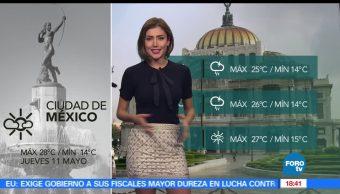 noticias, forotv, El clima, Daniela Alvarez, clima, lluvias
