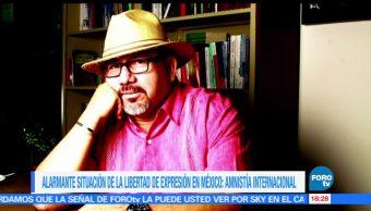libertad de expresión, México, alarmante, Amnistía Internacional (AI)