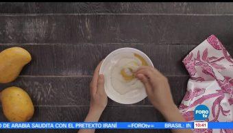 chef Verónica de la Piedra, preparar, copas, mango, coco