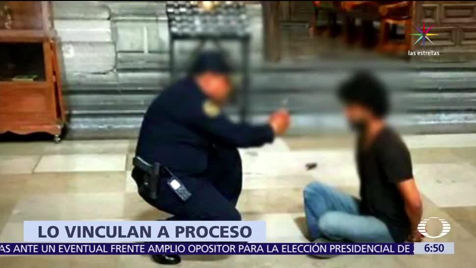 Vinculan a proceso, Juan René Silva, agresor de sacerdote, Catedral CDMX