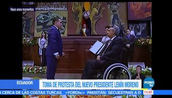 Lenín Moreno, prestó juramento, presidencia de Ecuador, período de cuatro años