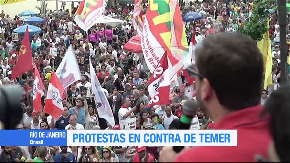 Protestan, presidente de Brasil, Michel Temer, corrupción