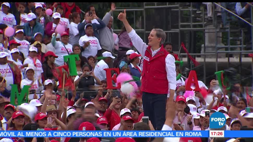 candidato del PRI, Alfredo del Mazo, visita, Toluca