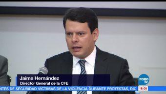Comisión Federal de Electricidad (CFE), titular, fenómenos naturales, fallas de infraestructura