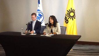 Dirigentes nacionales del PAN y PRD (Twitter @Ale_BarralesM)