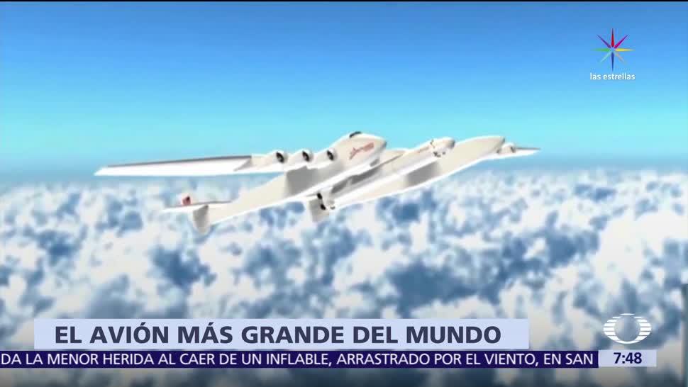 Presentan, avión, Stratolaunch, Boeing