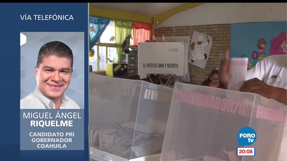 candidatos PAN y PRI, gubernatura, Coahuila, declararon ganadores, llamada, entrevista