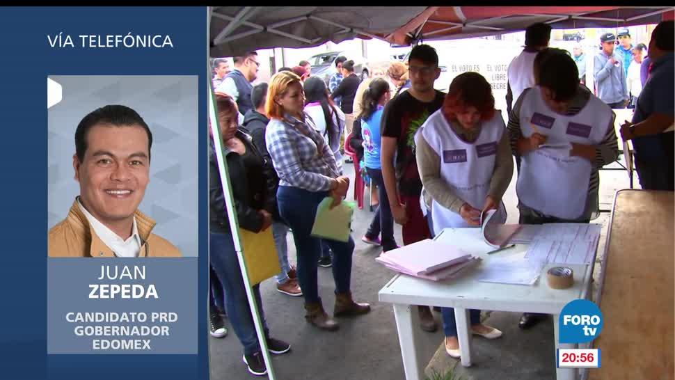 Juan Zepeda, reconoce, desventaja, conteo preliminar, elecciones, votaciones