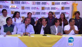 Partido de la Revolución Democrática PRD, Juan Zepeda, campaña en Edomex, reconoce trabajo