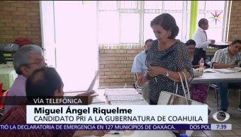 Miguel Riquelme, Guillermo Anaya, candidatos, PRI, PAN-PRD, Coahuila