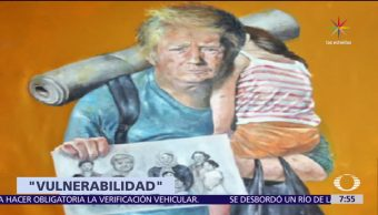 Donald Trump, Angela Merkel, Vladimir Putin, líderes del mundo, refugiados, Abdallah Al Omari