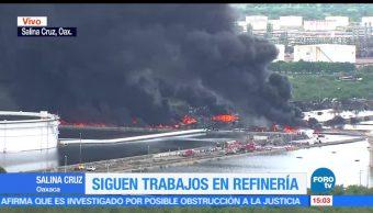 noticias, forotv, Incendio, refinería, salina Cruz, un muerto