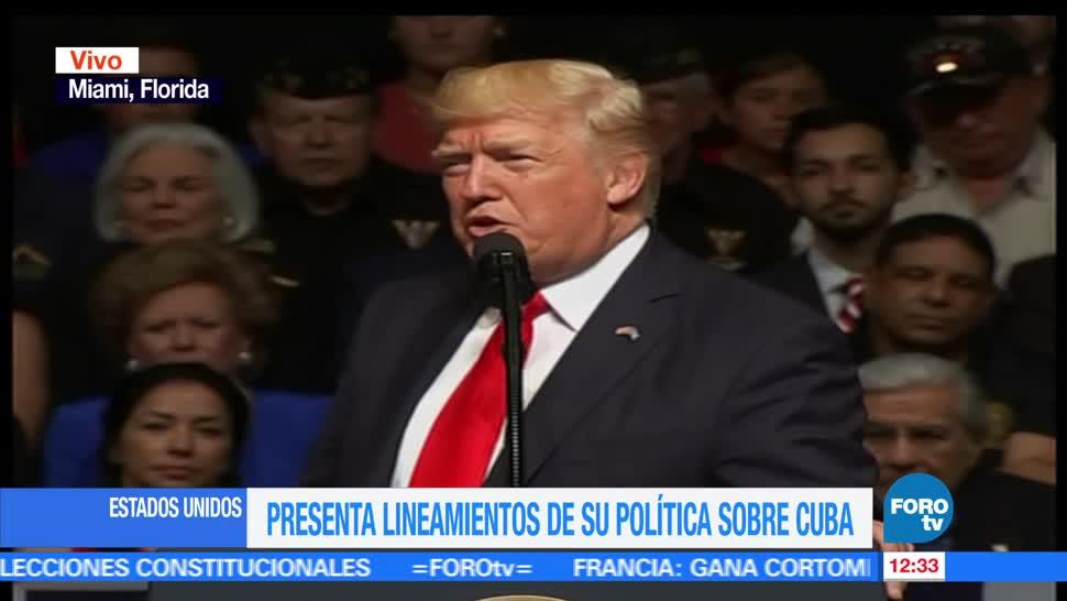 presidente de Estados Unidos, Donald Trump, anuncia cambios, política Cuba