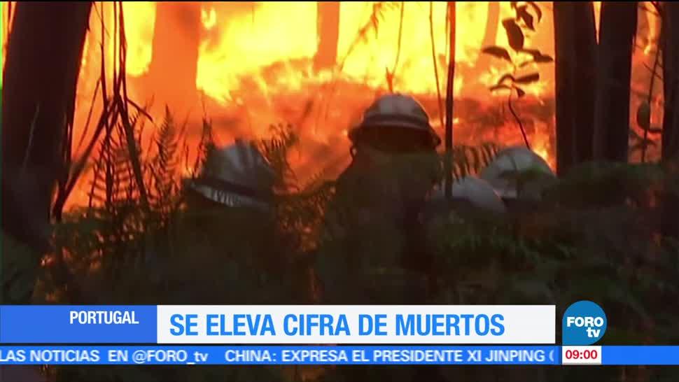 muertos, lesionados, incendio forestal, centro de Portugal, Portugal
