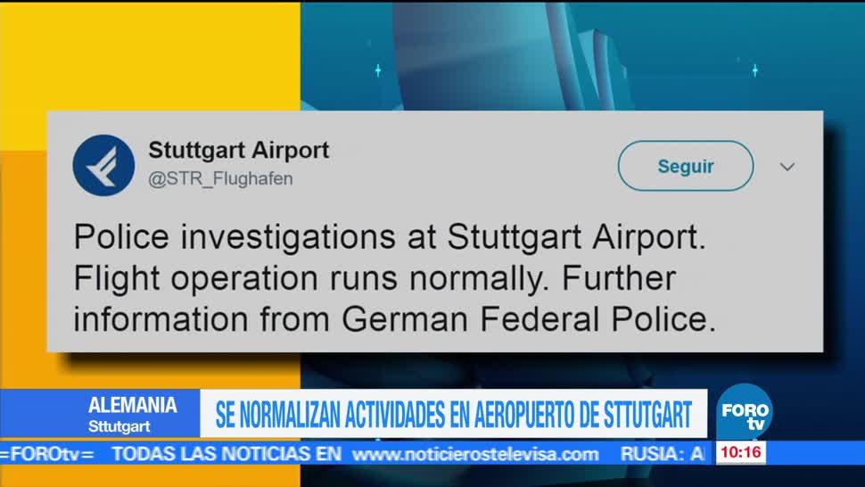 actividades en aeropuerto, Stuttgart, Alemania, alarma de bomba, bomba