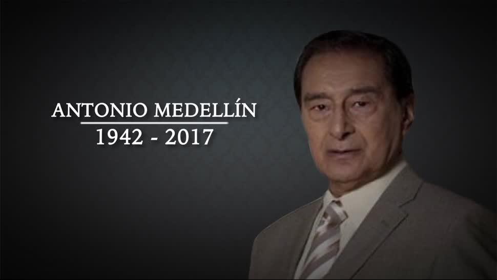 Muere, actor, Antonio Medellín, 75 años de edad