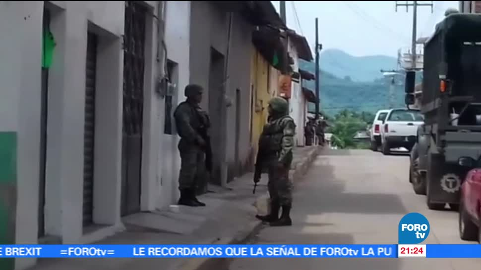 noticias, forotv, Emboscan, agentes, San Miguel Totolapan, Guerrero