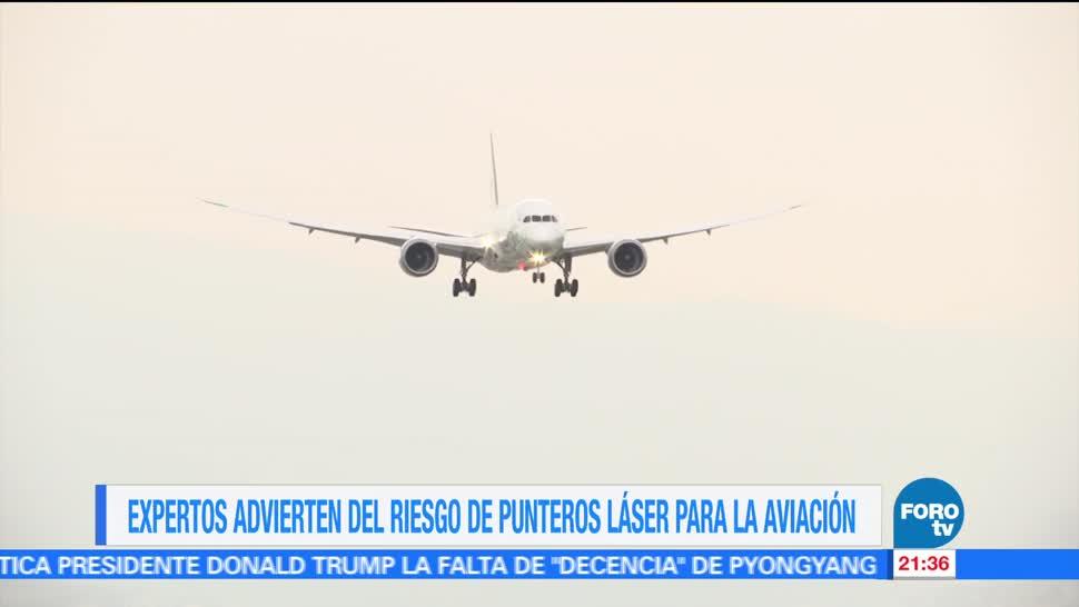noticias, forotv, Punteros laser, riesgo, aviación, maniobra de aterrizaje