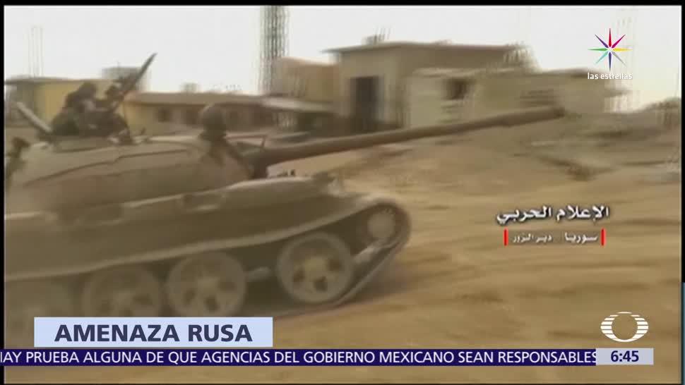 Rusia, derribar avión, oeste del río Eufrates, jet sirio, Raqqa