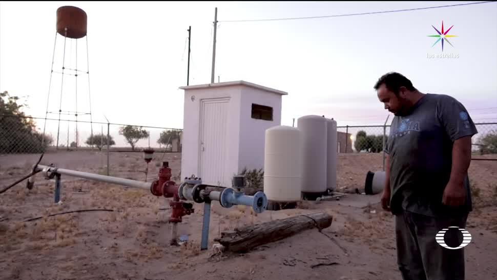 San Luis Río Colorado, 50, grados, sin agua, escasez, agua potable