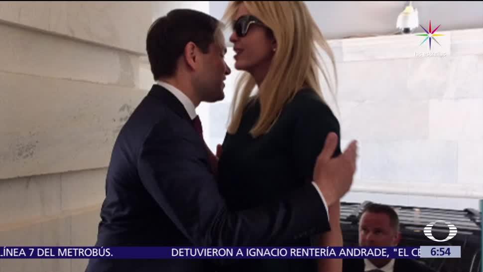 Ivanka Trump, Marco Rubio, redes sociales, fallido abrazo, funcionarios