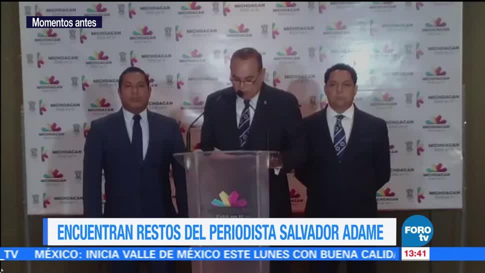 José Martín Godoy, Encuentran restos, periodista Salvador Adame, Michoacán