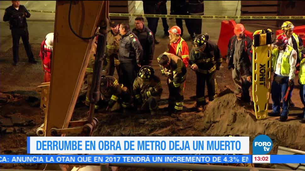 trabajador muere, derrumbe, ampliación de la Línea 12, Metro CDMX