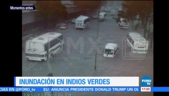 registran afectaciones, zona de Indios Verdes, fuerte lluvia, Ciudad de México